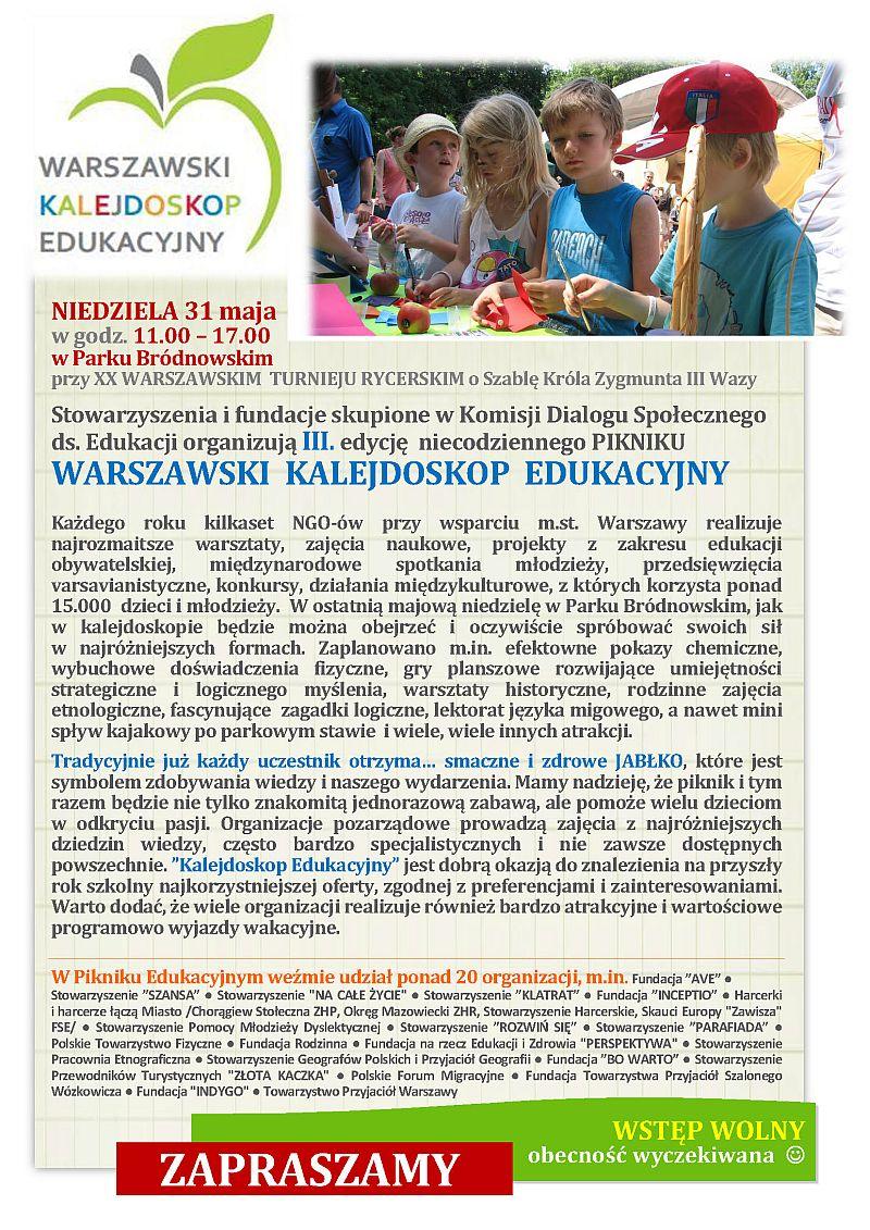 winieta info na KALEJDOSKOP 2015 komunikat1